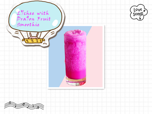 Lychee and dragon fruit smoothie: New DIY Recipe