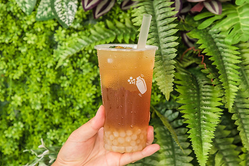 Lychee drink with agar jelly ball como