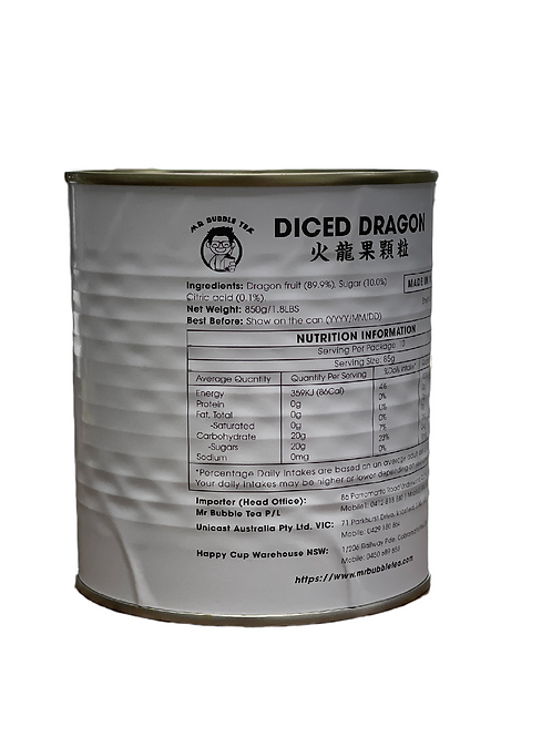 Diced Dragonfruit Can 850g