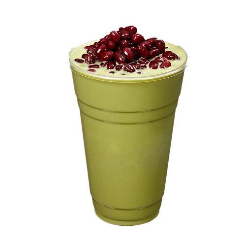 Matcha Latte with red bean