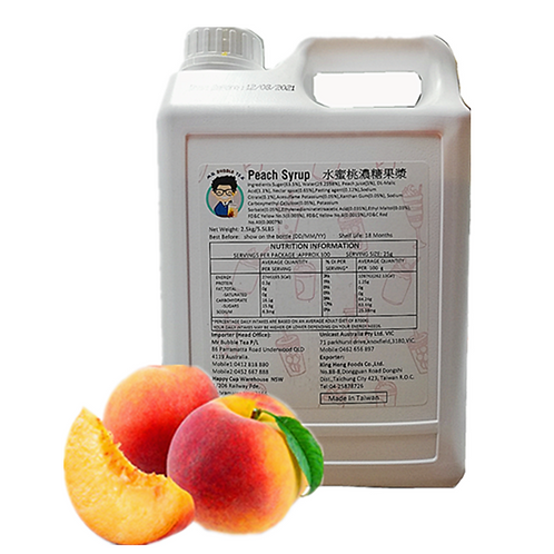 TC Peach Flavor Concentrated Syrup with Pulp (2.5kg or 2.1L)