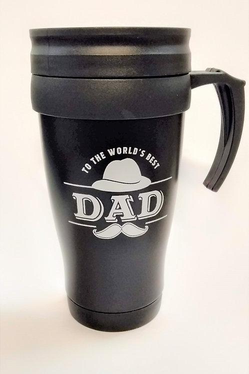 500ml Black Travel Mug