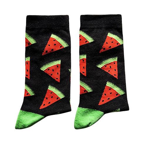 Socks- Watermelon, Black