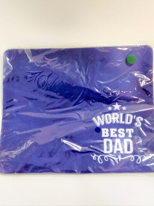 Mouse Pad -World's Best Dad