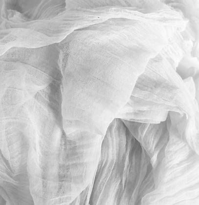 White Cheesecloth Runner