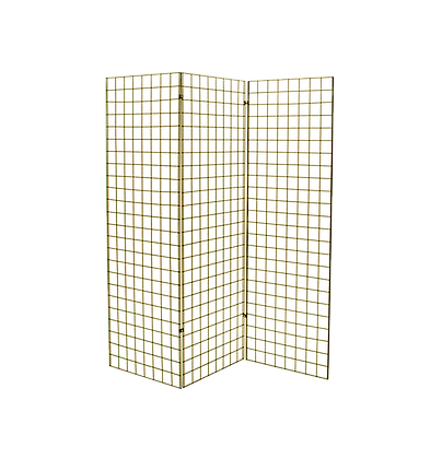 Gold Grid Wall