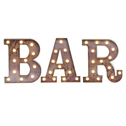 BAR Marquee Letters