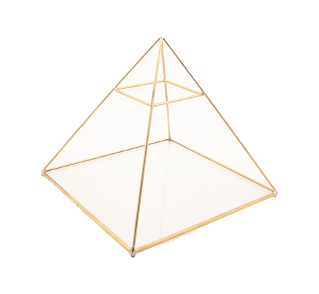 Gold Triangle Candle Holder