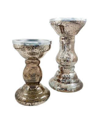 Mercury Candle Holders (Set of 2)