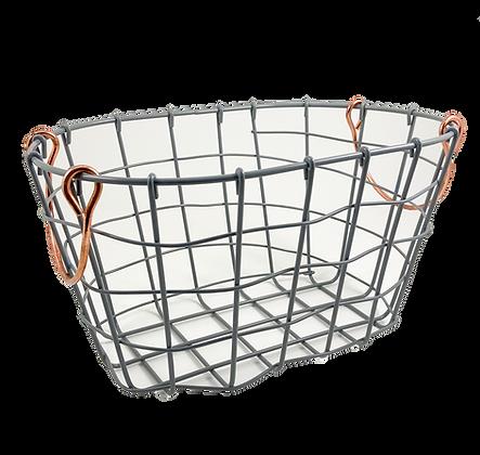 Grey Wire Basket