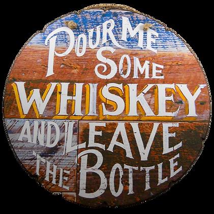 'Whiskey' Wood Sign