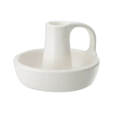 White Ceramic Candlestick