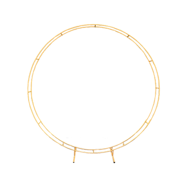 Gold Double Circle Arch