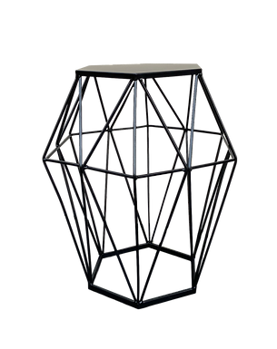 Tall Geometric Side Table