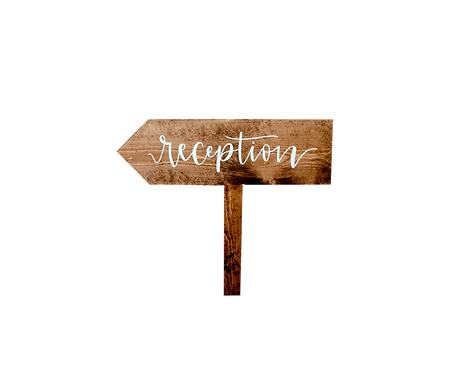 Wood Stake Sign - Reception