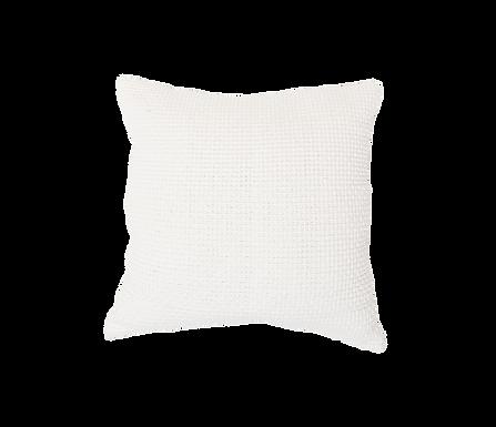 White Waffle Pillow