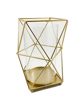 Gold Geometric Candle Holder