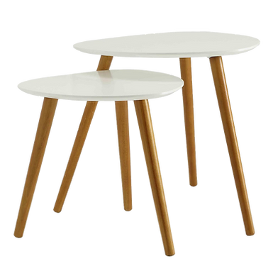 White Nesting Tables (Set of 2)
