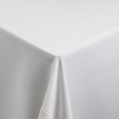 Standard White Poly Tablecloth