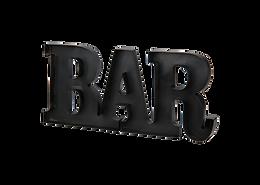 BAR Metal Sign