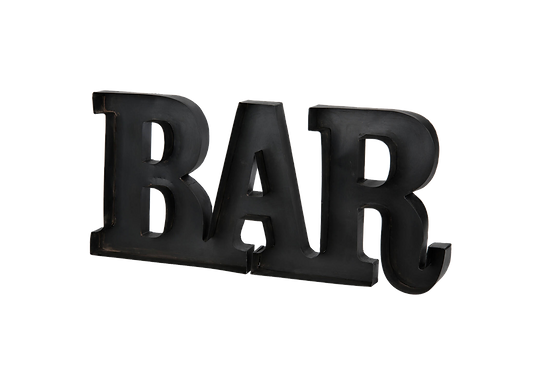 BAR Metal Sign