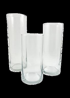 Cylinder Glass Vases (Set of 3)