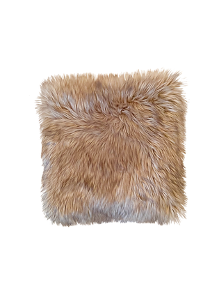 Brown Faux Fur Pillow