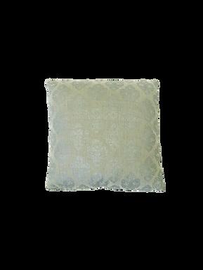 Taupe + Metallic Patterned Pillow
