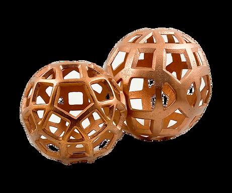 Copper Spheres (Set of 2)