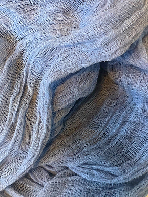 Pale Blue Cheesecloth Runner