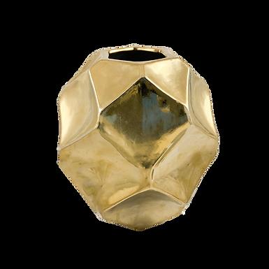 Gold Geometric Vase