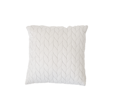 White Threaded Pillow