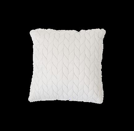 White Threaded Pillow