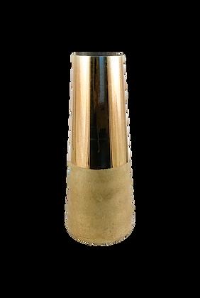 Two-Tone Gold Cylinder Vase