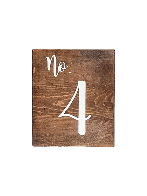 Vertical Wood Table Numbers