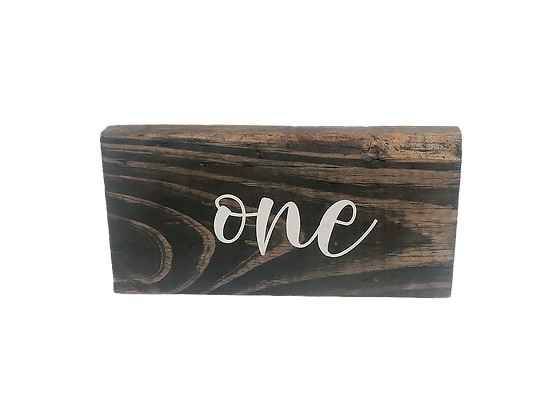 Wood Table Numbers (Set of 12)