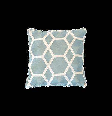 Teal Geometric Pillow