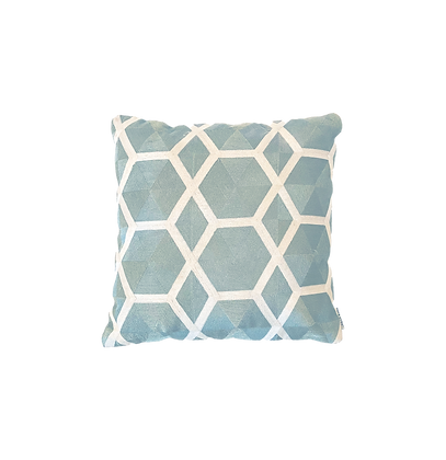 Teal Geometric Pillow