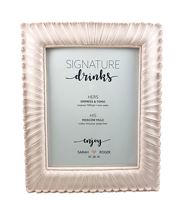 Blush Rippled Frame - 8 x 10