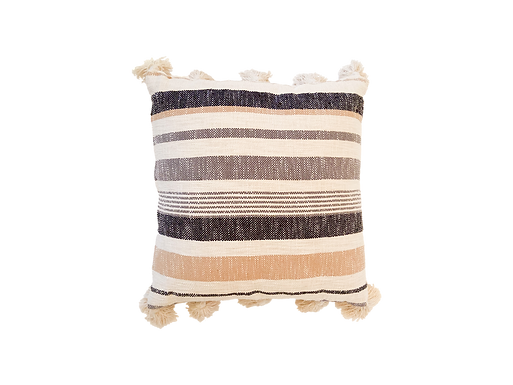 Striped Tassel Pillow