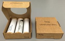 packaging en carton pour message