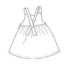 handmade girls dungaree dress
