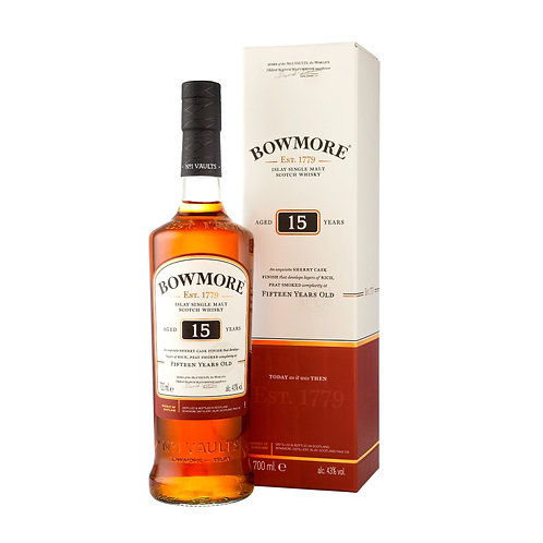BOWMORE 15 Years Old Malt 70cl with Box