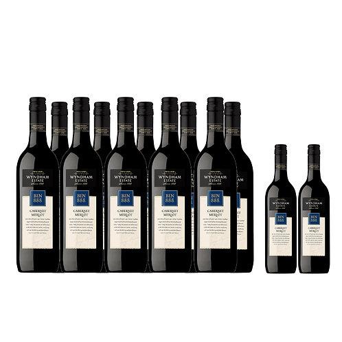 WYNDHAM Estate Bin 888 Cabernet Merlot 75cl PROMO Buy 10 Bottles FREE 2 Bottles
