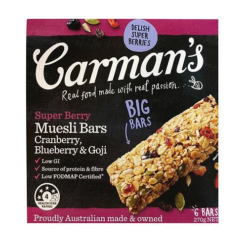 Carman's Muesli Bars - Super Berry 6 x 45g