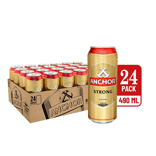 Anchor Strong Beer Can 490ml (Pack of 24)
