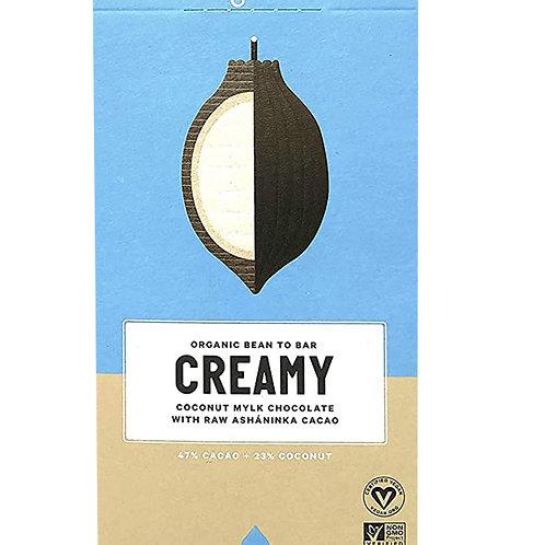 Loving Earth Organic Chocolate - Creamy Coconut Milk 80g