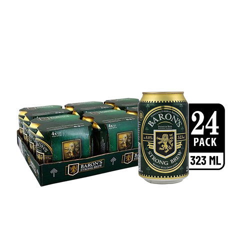 Baron's Strong Brew Can 323ml (Pack of 4) x 6
