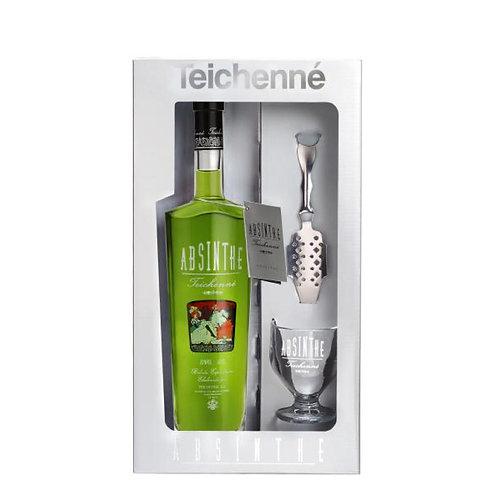 Teichenne Absinthe Green Set with glass & spoon- 70% vol.