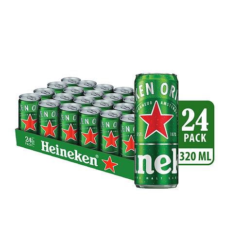 Heineken Lager Beer Can 320ml (Pack of 24)